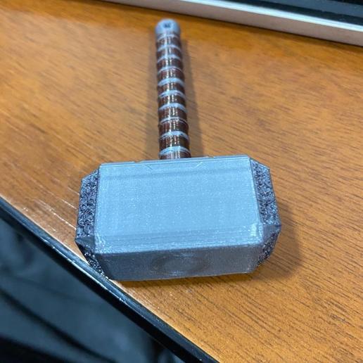 Download free STL file martillo thor (llavero) • 3D print object, brandcorvar