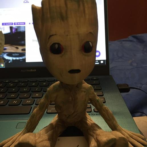 Download free 3D printing designs Baby Groot, brandcorvar