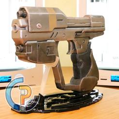 Télécharger STL gratuit MH6 Magnum Gun from Halo 4, Tegs_Shin