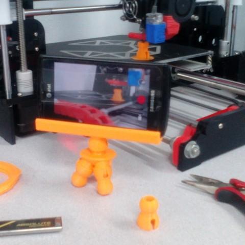 IMG_20180703_130919.jpg Download free STL file Tripod Flex Cellphone • 3D printer template, _aalejandrovr24