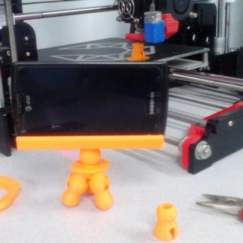IMG_20180703_130645.jpg Download free STL file Tripod Flex Cellphone • 3D printer template, _aalejandrovr24