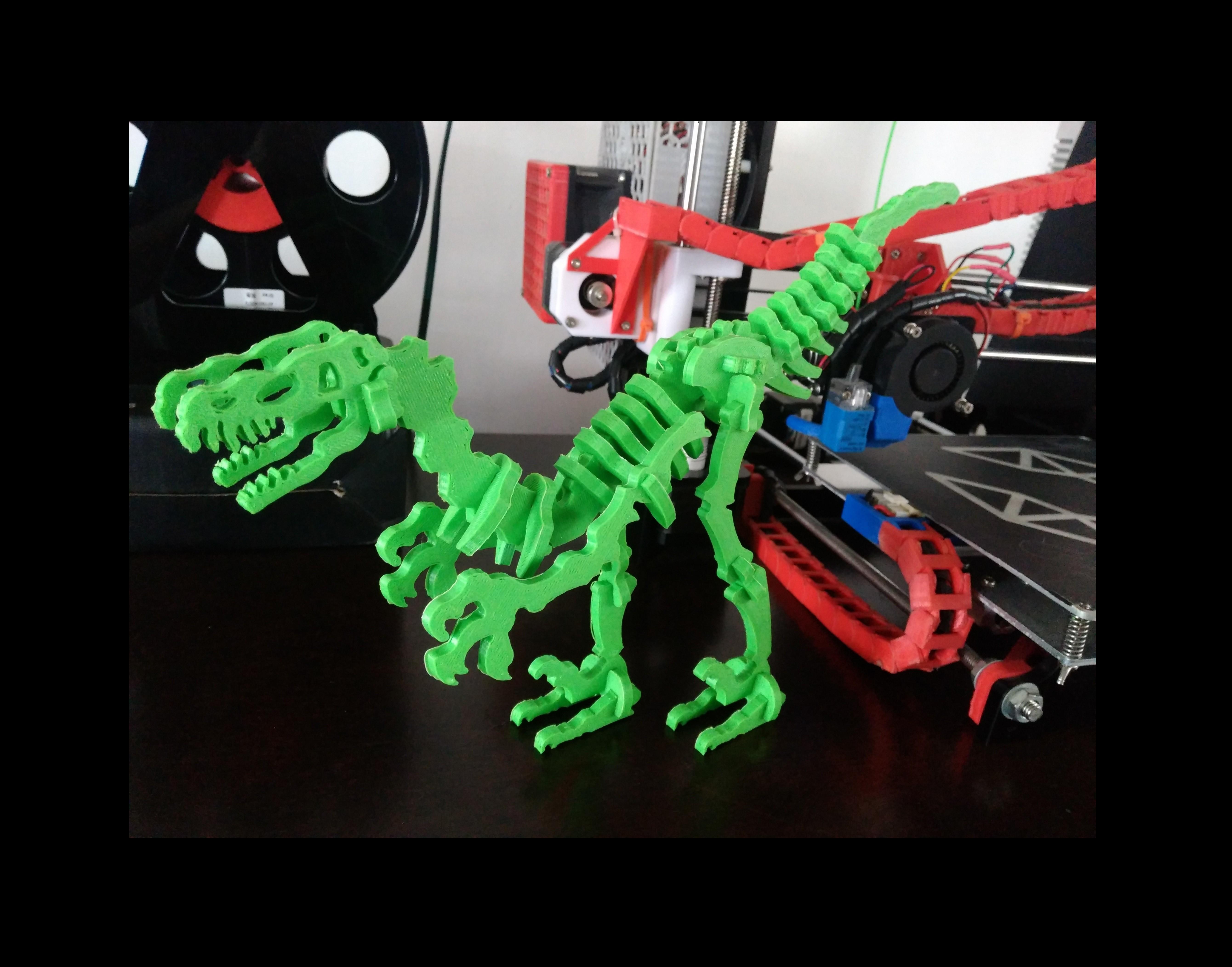 Terry.jpg Download free STL file Dinosaur Skel for 3D Printer! - Terry the Dinosaur! • 3D printer model, _aalejandrovr24