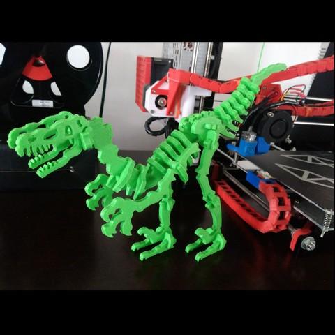 Fichier impression 3D gratuit Dinosaur Skel pour imprimante 3D ! - Terry le Dinosaure !, _aalejandrovr24