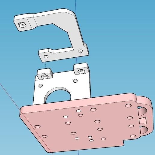 soporte BMG1.jpg Télécharger fichier STL gratuit Support moteur pour extrudeuse directe BMG pour Anet A8 /AM8 • Objet à imprimer en 3D, celtarra12