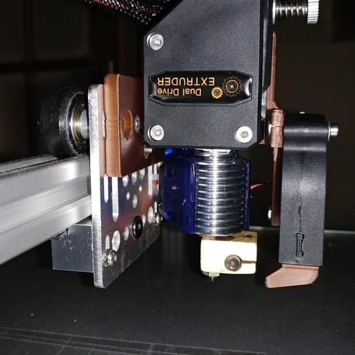 20200329_155555.jpg Télécharger fichier STL gratuit Soporte Hotend Chimera & Cyclops y 2 ventiladores de capa eje X Perfil aluminio 2020 // Soporte BMG + Hotend V6 • Objet pour impression 3D, celtarra12