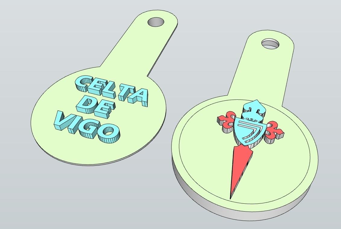 LLAVERO_CELTA_DE_VIGO_2.jpg Télécharger fichier STL gratuit LLAVERO CELTA DE VIGO, REAL MADRID, BARCELONA, ATLETICO DE MADRID Y TORTUGA (NFC) • Modèle imprimable en 3D, celtarra12