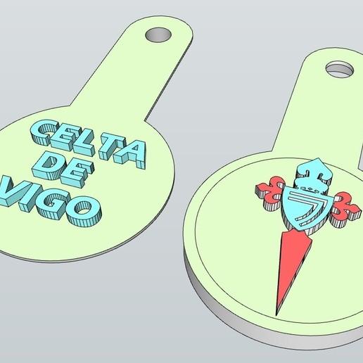 Télécharger fichier 3D gratuit LLAVERO CELTA DE VIGO (NFC) Y REAL MADRID, celtarra12
