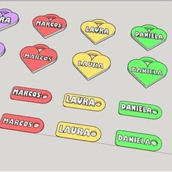 Download free 3D printing designs Llaveros Identificativos con Nombre (más de 100 nombres), celtarra12