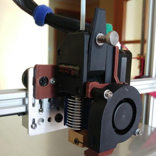 20200329_155405.jpg Télécharger fichier STL gratuit Soporte Hotend Chimera & Cyclops y 2 ventiladores de capa eje X Perfil aluminio 2020 // Soporte BMG + Hotend V6 • Objet pour impression 3D, celtarra12