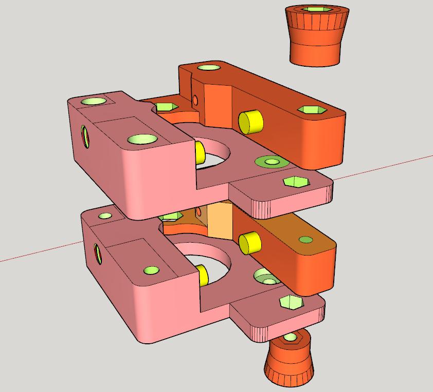 Extrusor_Doble_para_un_solo_motor.png Télécharger fichier STL gratuit Doble Extrusor para montaje en Bowden con un sólo motor • Objet imprimable en 3D, celtarra12