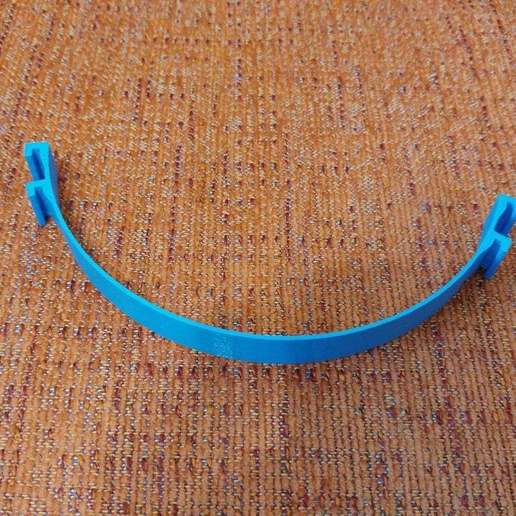20200613_154532_HDR.jpg Télécharger fichier STL gratuit Porte-masque simple et double courbe + Boucle d'oreille (pour sauver les oreilles) • Objet pour imprimante 3D, celtarra12