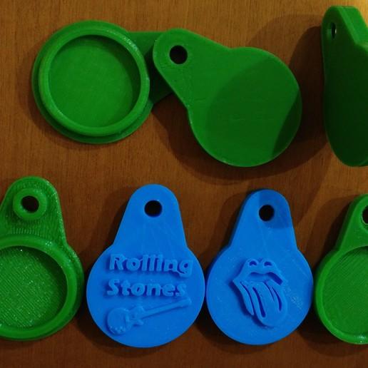 rolling.jpg Télécharger fichier STL gratuit LLAVERO (PORTE-CLÉS) TARJETA NFC • Objet pour imprimante 3D, celtarra12