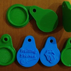 rolling.jpg Download free STL file LLAVERO (KEYCHAIN) TARJETA NFC • 3D printer object, celtarra12