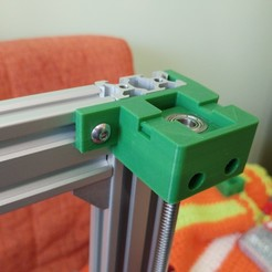 Télécharger fichier 3D gratuit Parte Superior Husillo eje Z con muelle para perfil de aluminio 2040, celtarra12