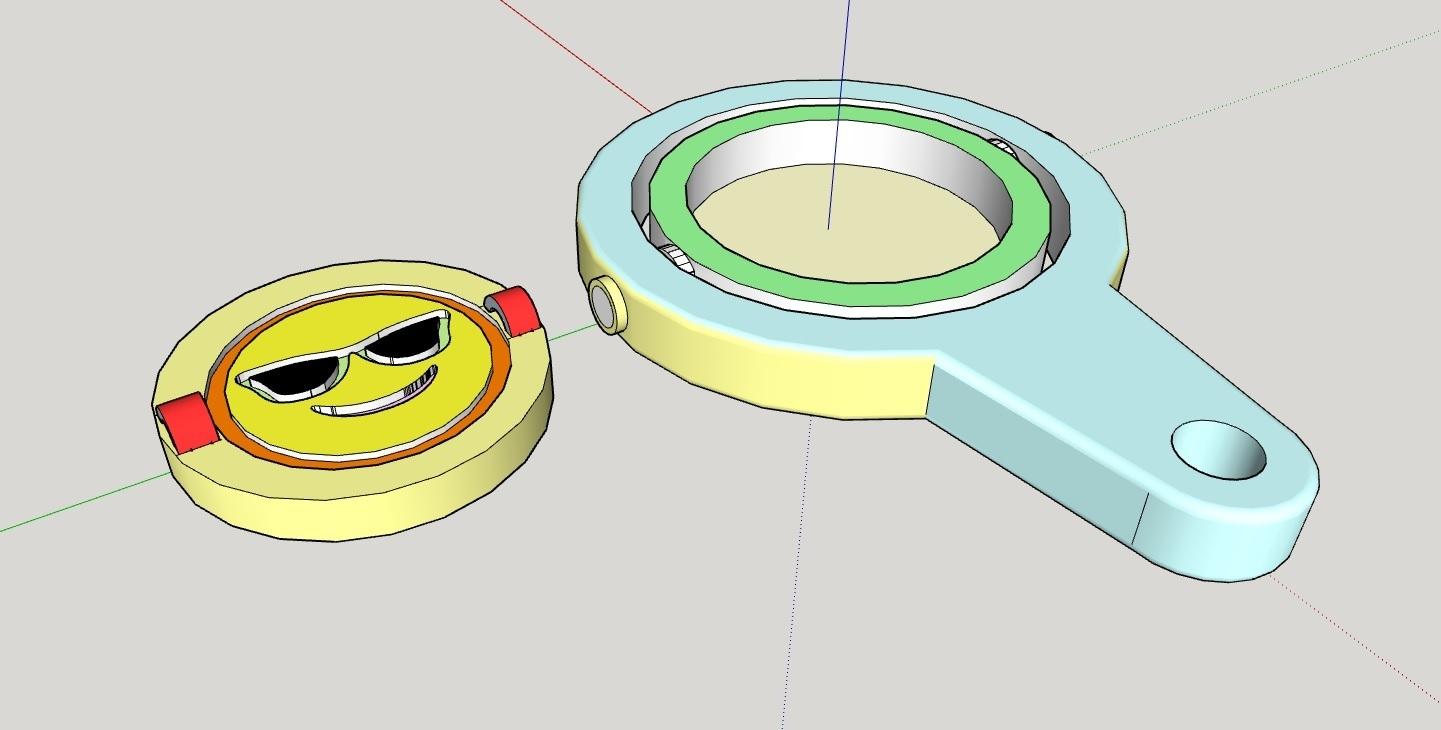 LLAVERO_SMILE.jpg Télécharger fichier STL gratuit LLAVERO GIRATORIO SONRISA • Design pour impression 3D, celtarra12