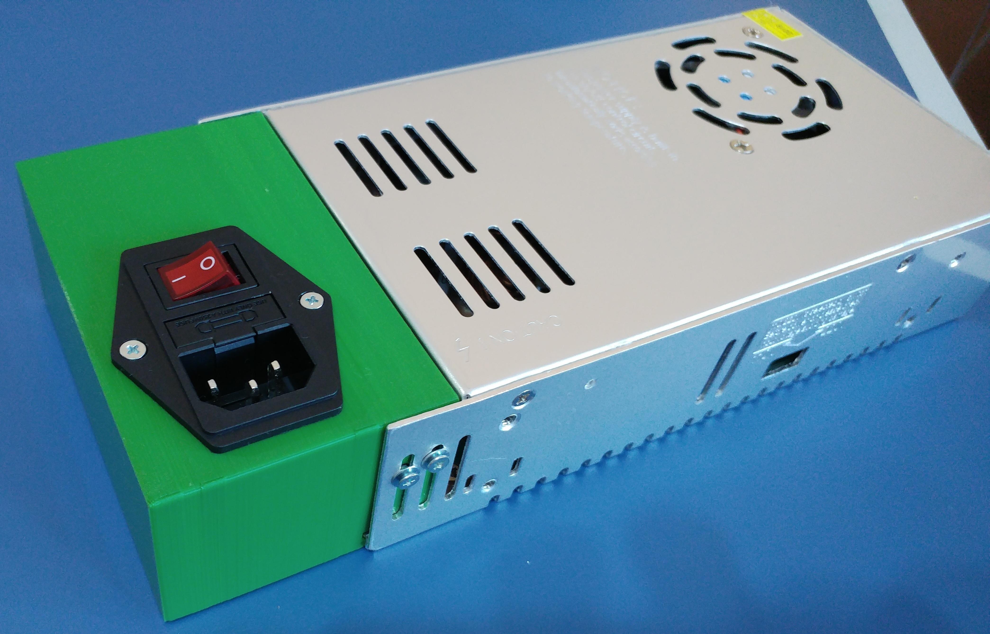 0.jpg Télécharger fichier STL gratuit Carcasa Fuente de Alimentación con interruptor de encendido • Plan pour imprimante 3D, celtarra12