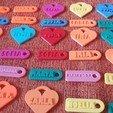 Download free 3D printing files LLaveros Identificativos con Nombre (más de 500 nombres) (key chains with name), celtarra12