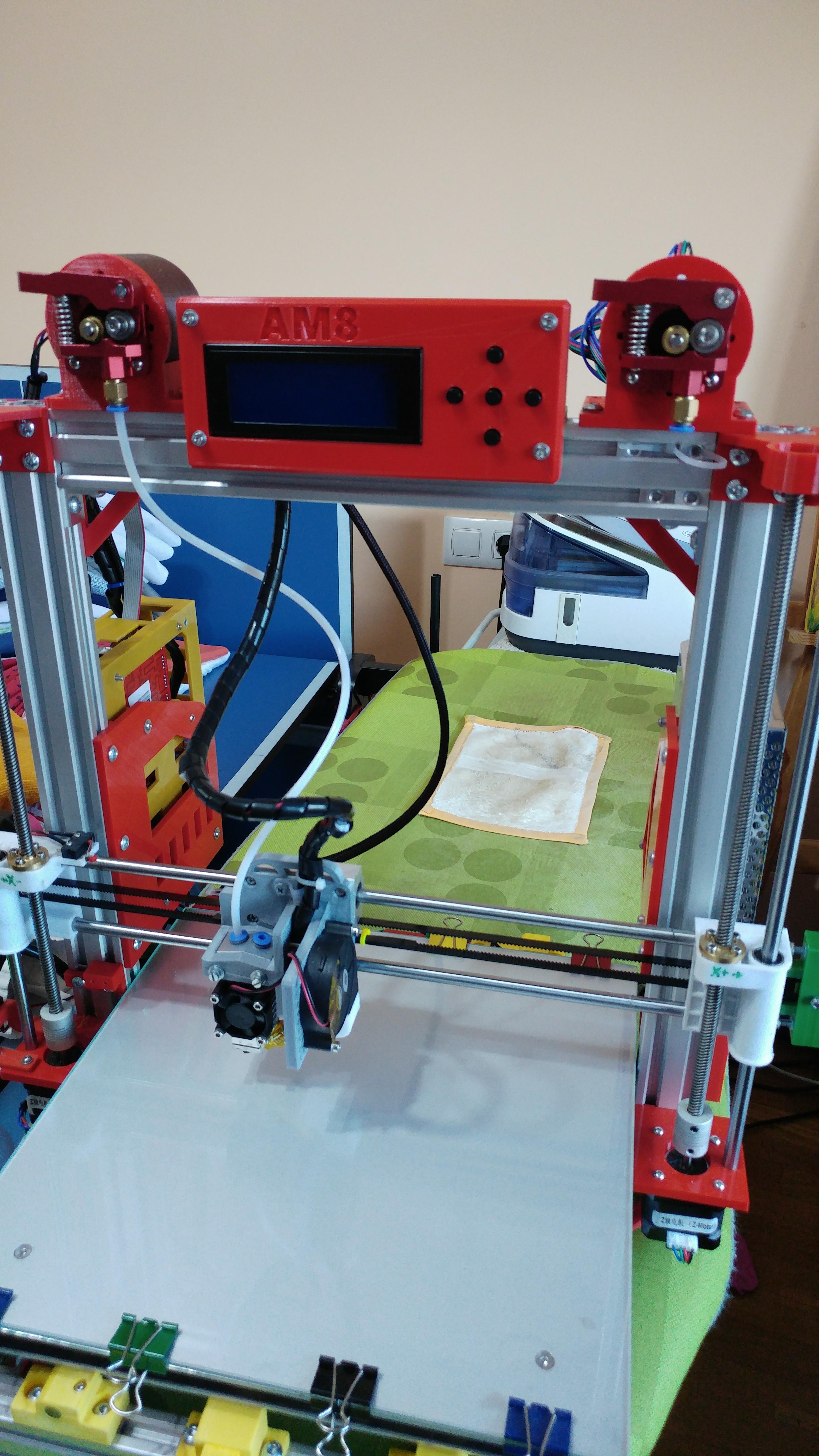 20190624_205110.jpg Télécharger fichier STL gratuit SOPORTE VARILLAS, TENSOR CORREA, ANCLAJE CORREA EJE Y, SOPORTE LCD ANET AM8 EN CAMA DE 300X300 • Design pour imprimante 3D, celtarra12