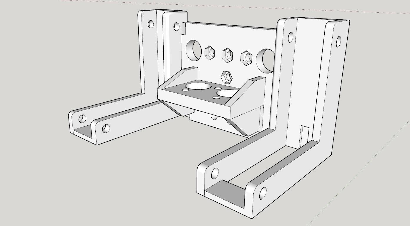 Soporte_Hotend_y_ventilador_de_capa1.jpg Télécharger fichier STL gratuit Soporte Hotend Chimera & Cyclops y 2 ventiladores de capa eje X Perfil aluminio 2020 // Soporte BMG + Hotend V6 • Objet pour impression 3D, celtarra12