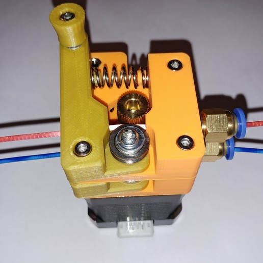 20190118_165723.jpg Télécharger fichier STL gratuit Doble Extrusor para montaje en Bowden con un sólo motor • Objet imprimable en 3D, celtarra12