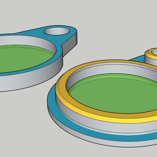 LLAVERO_TARJETA_CAFE_NFC.jpg Télécharger fichier STL gratuit LLAVERO (PORTE-CLÉS) TARJETA NFC • Objet pour imprimante 3D, celtarra12