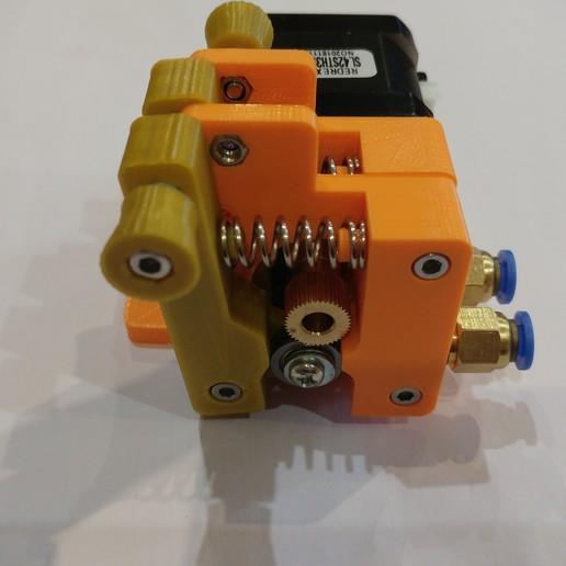 20190118_163256.jpg Télécharger fichier STL gratuit Doble Extrusor para montaje en Bowden con un sólo motor • Objet imprimable en 3D, celtarra12
