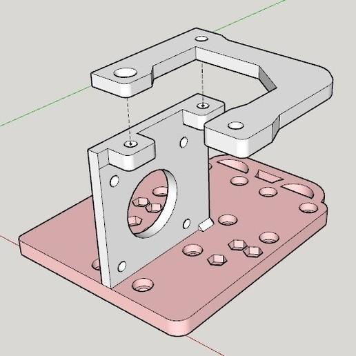 Soporte BMG.jpg Télécharger fichier STL gratuit Support moteur pour extrudeuse directe BMG pour Anet A8 /AM8 • Objet à imprimer en 3D, celtarra12