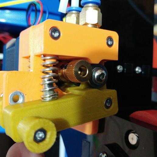20190126_182358.jpg Télécharger fichier STL gratuit Doble Extrusor para montaje en Bowden con un sólo motor • Objet imprimable en 3D, celtarra12