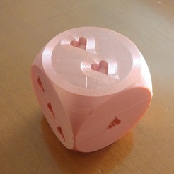 Dado_2.jpg Download free STL file Dado de Corazones (Dice of Hearts) • 3D printing design, celtarra12
