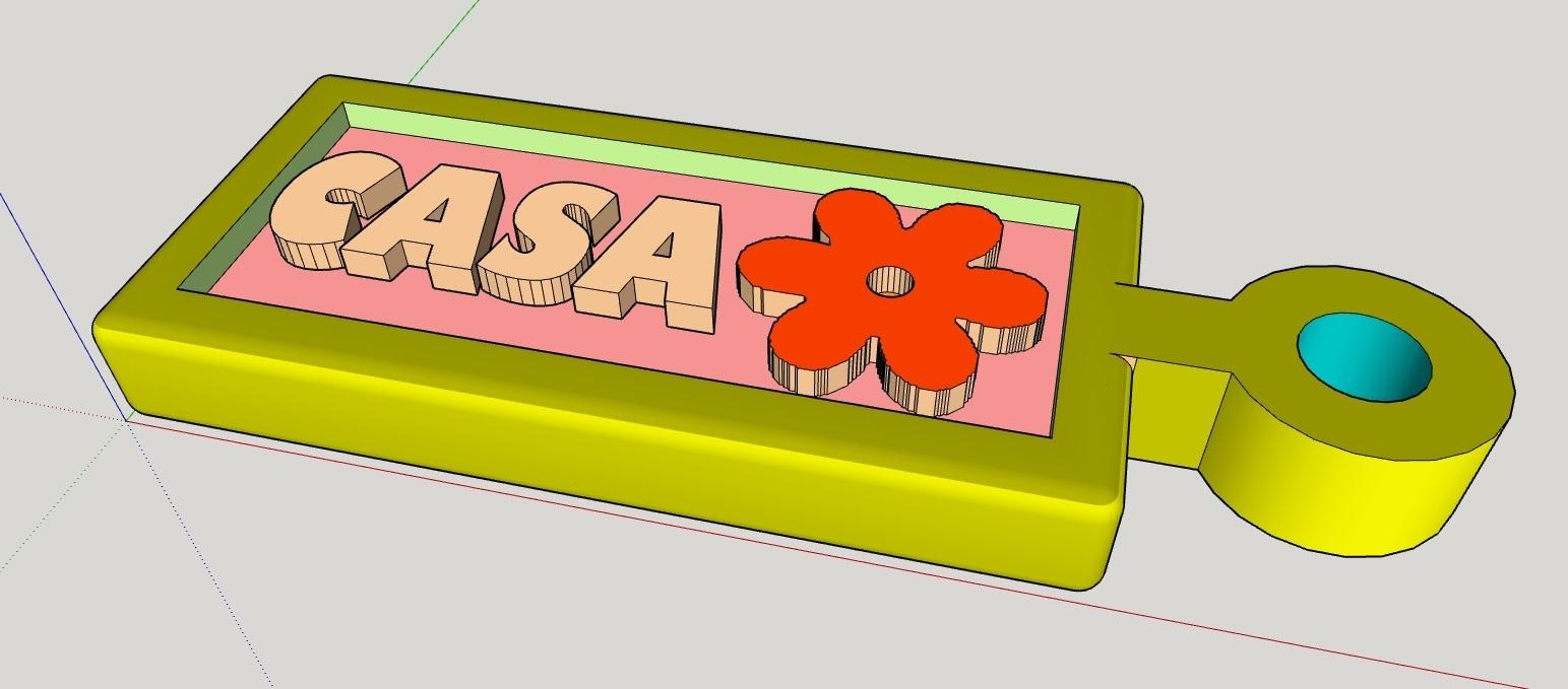 LLAVERO_CASA_.jpg Télécharger fichier STL gratuit LLAVERO CASA FLOR • Modèle pour impression 3D, celtarra12