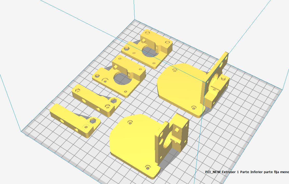 NEW_doble_extrusor_Cura.png Télécharger fichier STL gratuit Doble Extrusor para montaje en Bowden con un sólo motor • Objet imprimable en 3D, celtarra12