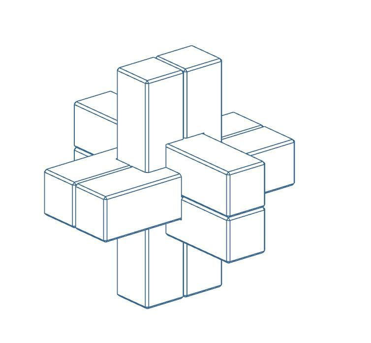Ass.jpg Download free STL file Mini Puzzle Puzzle • 3D printer model, Bdz37