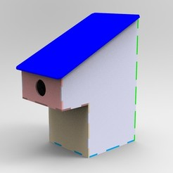 Download free 3D printing templates Nesting box for birds, Bdz37