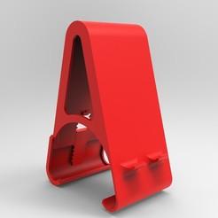 Porte_telephone.jpg Descargar archivo STL Soporte para teléfono móvil • Modelo para la impresora 3D, Bdz37