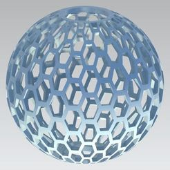 Download free 3D printing designs Honeycomb Ball, Bdz37
