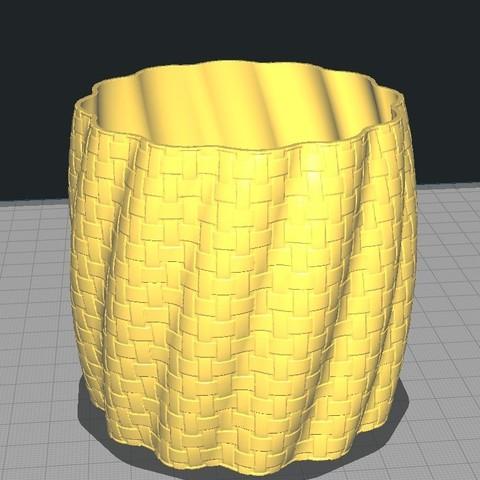 Download free STL files Pot basket braiding pattern, Bdz37