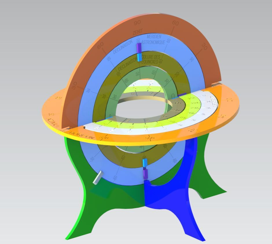 Sphere_Armillaire.jpg Download free STL file Armillary Sphere • 3D printable design, Bdz37