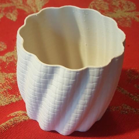 Free STL files Pot basket braiding pattern, Bdz37