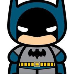Download 3D printing designs Batman Chibi cookie cutter and stamp, EvelyneOfugi