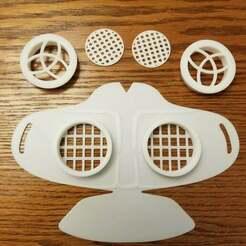 Set.jpg Download free STL file Corona Mask • 3D printable object, risc999