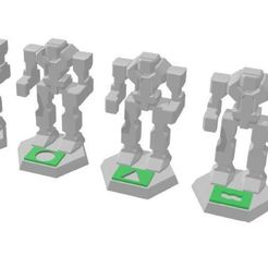 Unknown_Mech_Beacons_Set.jpg Download free 3MF file FightTech Fog of War Tokens • 3D printing object, CaptainFathom