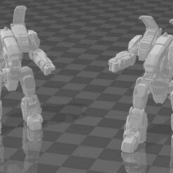 2K and 2R.jpg Download free STL file The Duchess FightMech Collection of CommissarHarris • 3D print object, CaptainFathom