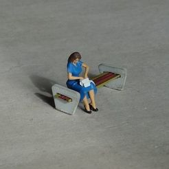 DSC01164c.jpg Download free STL file Girl waiting for train • 3D printable object, polkin