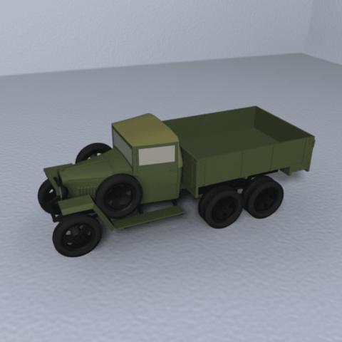 Download free STL files GAZ-AAA wartime truck 1:87 (H0), polkin