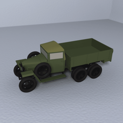 Download free STL files GAZ-AAA wartime truck 1:87 (H0), polkin