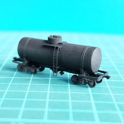 Download free STL file SZHD 50-ton tankcar 1:87 & 1:200 • 3D print design, polkin