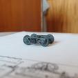 Free 3D printer designs SZHD/RZHD railcar bogie 1:87 (H0), polkin
