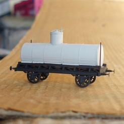 "Download free STL file Russian ""normal"" tank car 1:87 (H0) • 3D printing object, polkin"