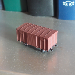 Download free STL file Boxcar 1:200 • 3D printing template, polkin