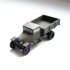 Free STL GAZ-MM-V wartime truck 1:87 (H0), polkin